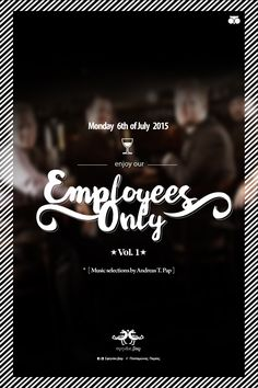 "POSTER   "" Employees Only """