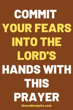 Commit your fears into the lord's hands with this prayer. Lent Prayers, Easter Prayers, Prayers For Healing, Bible Prayers, Catholic Prayers, Bible Scriptures, Holy Week Prayer, Prayer For Anxiety, Spiritual Warfare Prayers