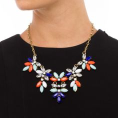 Wild Flowers - ShoeDazzle We adore this necklace! Perfect for summer.