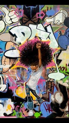 I Got the Power ~ Frank Morrison Black Art Painting, Black Artwork, Black Love Art, Black Girl Art, African American Artwork, African Art, Frank Morrison Art, Natural Hair Art, Black Art Pictures