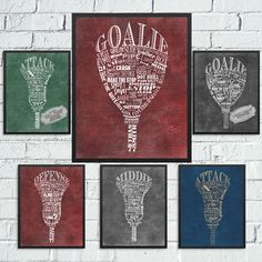 Personalized Lacrosse Stick Word Art-Every Position Available for MENS & WOMENS…