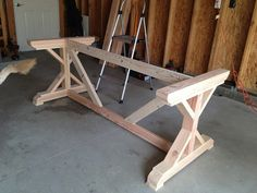 My Wild Thing and Twinkle Toes: DIY Farmhouse Table & Benches Part 1