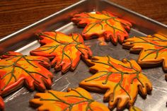 fall leaf cookies...they look so perfect!