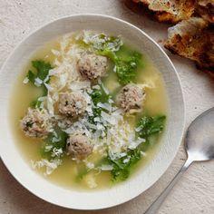 Giada's Italian Wedding Soup.  No need for the bread, though.