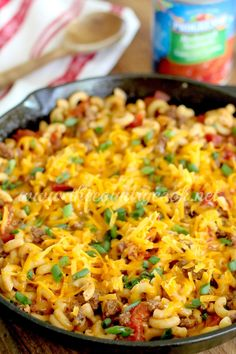 Cheesy Macaroni Skillet - The Country Cook