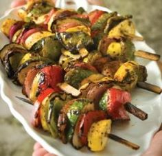 Grilled Vegetable Kabobs