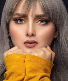 Image may contain: 1 person, closeup Lovely Eyes, Most Beautiful Faces, Beautiful Lips, Beautiful Girl Image, Pretty Eyes, Wedding Makeup Looks, Bridal Makeup, Brunette Beauty, Hair Beauty