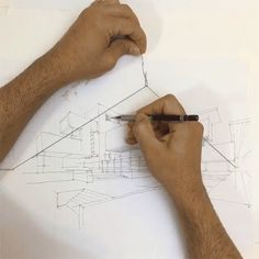 WATCH: Ingenious Hack for Sketching with Two Point Perspective Using an Elastic String [video]