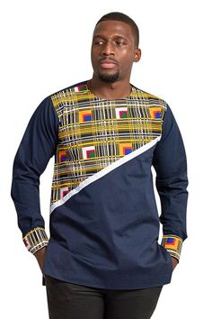 Our men collection features African print shirts, dashiki T-shirts,African print fit vests, African print blazers, African print Couples African Outfits, African Blouses, African Dresses For Women, African Attire, African Fashion Dresses, African Print Shirt, African Clothing For Men, African Print Fashion, African Dashiki Shirt