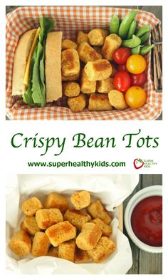 Crispy Bean Tots Recipe. Perfect for toddlers and packed with protein and fiber! www.superhealthykids.com/crispy-bean-tots