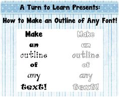 How to Make an Outline of Any Font! Lear how to do this in Word or PowerPoint... and on Mac or PC!
