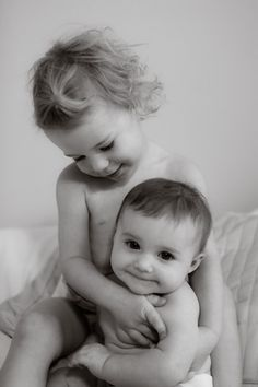 Capturing sweet moment of cute siblings ♥ by Gathering Light Photography