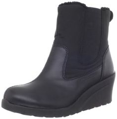 """Mountrek Women's Plaza Twin Gore Rain Boot Mountrek. $128.00. Heel measures approximately 2.5"""". Boot opening measures approximately 11"""" around. Made in China. synthetic. Platform measures approximately 0.5"""" . Shaft measures approximately 7"""" from arch. Rubber sole"""