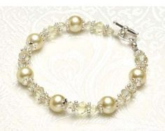 DIY Rhinestone and Pearl Statement Bracelet | AllFreeJewelryMaking.com