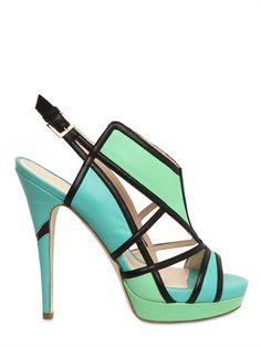 Burak Uyan 130mm leather geometric sandals