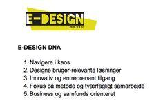 BESLUTNING 05.02.13: E-DESIGN DNA
