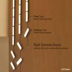 Fixed and rotating types in Rail Connection from LG Chem OLED light can be moved and rotated as you want them to be. You Create, We Light. www.lgoledlight.com #LGChem #OLED #light #interior