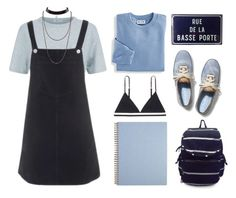 """""""Sem título #506"""" by tabata-sachetti ❤ liked on Polyvore featuring T By Alexander Wang, Topshop, Blair, Keds, LoveStories, Madden Girl, pinafores and 60secondstyle"""