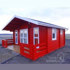 Drewniany domek letniskowy (Wooden house) Weekend 25 + 8 m2