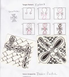 zenspirations zentangle tangle patterns zendoodle - Google Search