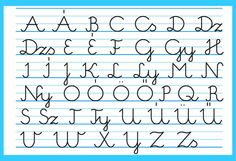 The Hungarian written capital letter alphabet.