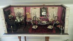Große museale Hacker-Puppenstube/-Café mit Empore beleuchtet und eingerichtet!!! in Antiquitäten & Kunst, Antikspielzeug, Puppen & Zubehör   eBay