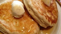 Banana pancakes topped with homemade coconut syrup is a tropical and crowd-pleasing way to begin the day.