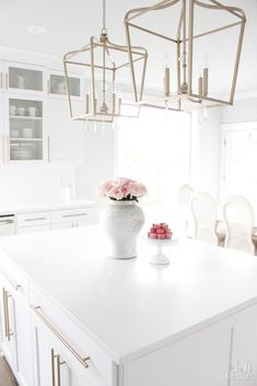 Welcome To Our Bright White Kitchen