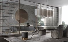 Soho sliding doors by Rimadesio. Available exclusively at Pure Interiors.