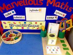 Interactive maths display - and shapes Preschool Curriculum, Preschool Science, Kindergarten Math, Teaching Math, Math Resources, Math Activities, Maths Eyfs, Numeracy, Math Boards