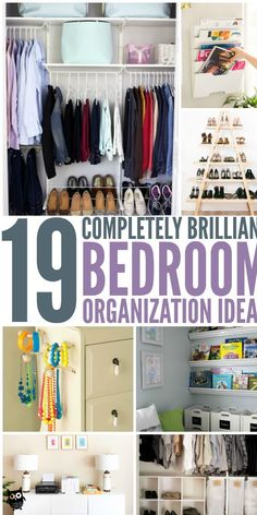 199 Home Organization Hacks You Need to Try Today is part of Room organization bedroom - An organized home is a happy home! No matter what area of your home needs reorganization, these home organization hacks are sure to help! Organisation Hacks, Diy Organization, Small Bedroom Organization, Clothing Organization, Organizing Small Bedrooms, Small Bedroom Storage, Clothing Storage, Declutter Your Home, Organizing Your Home