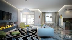 Гостиная #3d_visualization #interior