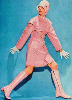 Pink swinging sixties. Perfectly on trend for this season.