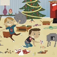 Xmas Wars - Inspired by memories of christmas mornings after opening up all my presents and playing with all the star wars toys.