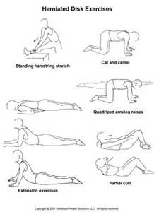Herniated Disc Exercises -