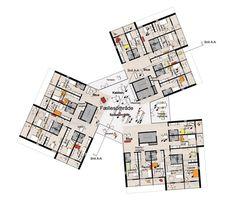 University of Southern Denmark Student Housing Winning Proposal / C.F. Møller Architects,6th floor plan