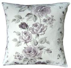 Handmade Cushion Cover Clarissa Amethyst Floral Laura Ashley 16  40 cm NEW Lilac