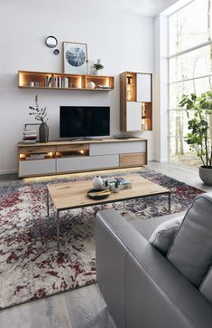Tv Stand Bookshelf, Wall Shelves, Style At Home, Living Room Tv Unit, Blue Rooms, Tv Cabinets, Drawing Room, Decoration, Lounge