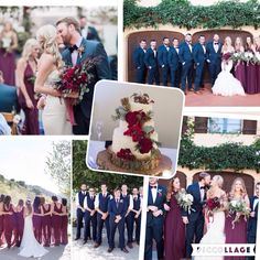 These are the colors I want for our wedding :)  Navy Blue and Marsala