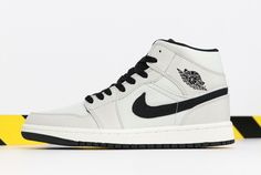 "2256a6cf017 2018 Air Jordan 1 Mid SE ""Canvas"" Light Bone/Cone-Black-Sail 852542-002"