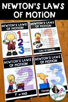 Newton's Laws of Motion  FREE Poster Pack - Perfect for your STEM lab or makerspace!  | Meredith Anderson - Momgineer