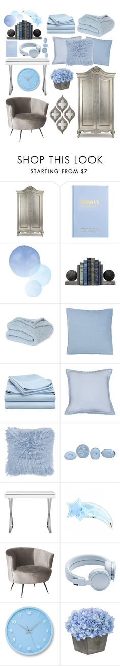 """Blue"" by lav-en-der-leaves ❤ liked on Polyvore featuring interior, interiors, interior design, home, home decor, interior decorating, kikki.K, Nordstrom Rack, Designers Guild and A by Amara"