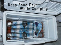 Camping tip... I always hate soggy food in the cooler. Gonna try this fo sho
