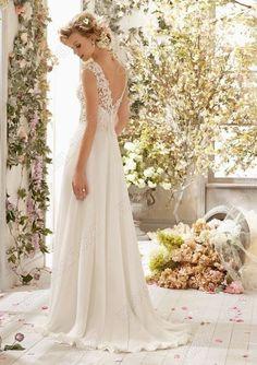 2014 Chiffon/lace Wedding Dress Bridal Gown Custom Size 6 8 10 12 14 16 Stock | eBay