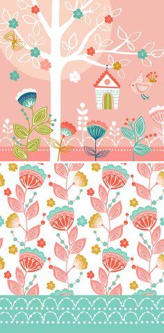 wendy kendall designs – freelance surface pattern designer » bird garden