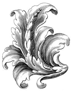 Baroque Ornament Stencil Printing, Acanthus, Baroque, Stencils, Ornaments, Abstract, Tattoos, Artwork, Summary