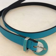 """Kenneth Cole REACTION Tiffany blue skinny belt Size XL! Beautiful blue. Cute enameled buckle. About 43"""" long. NWOT; never worn. Kenneth Cole Reaction Accessories Belts"""