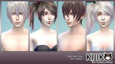Kijiko: Dolly Skin Tones and Dolly Eye Colors • Sims 4 Downloads