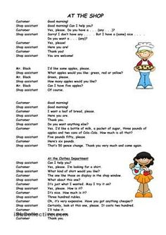 Different shopping activities - ESL worksheets