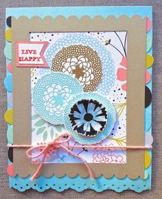 Stampin' Up! 2014 SAB Petal Parade, banner punch; Petite Fleur Paperie